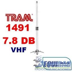 Tram 1491 Antena Base Fibra VHF, 7.8 db.