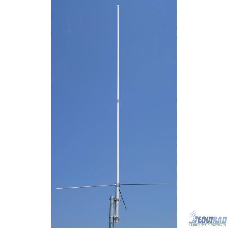 Antena Base Dual Band, Fibra VHF-UHF