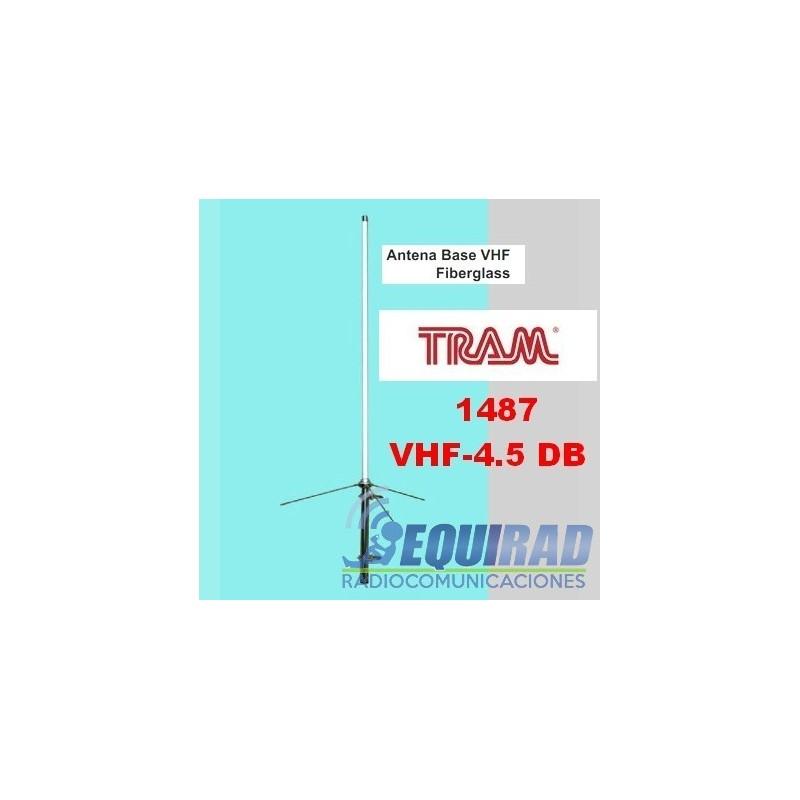ANTENA BASE FIBRA VHF 4.5 DB