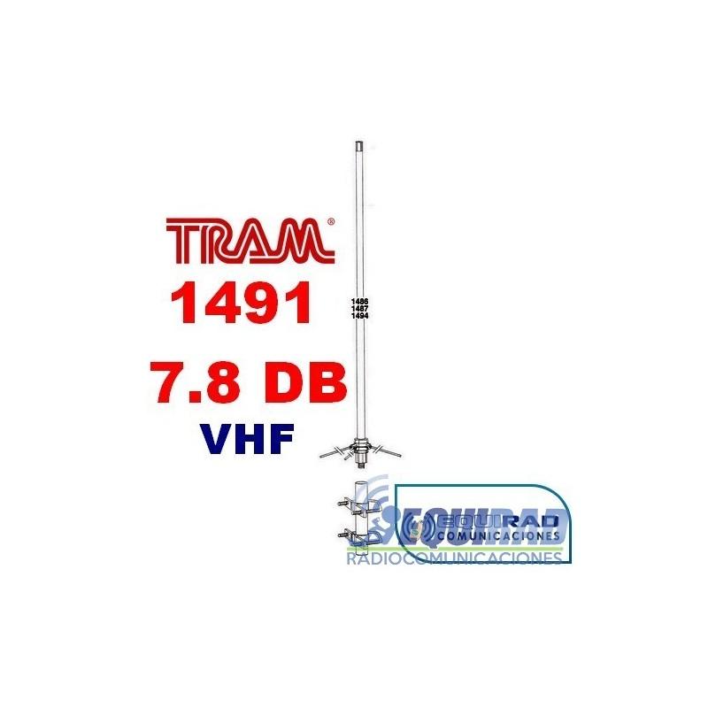 Antena Base Fibra VHF, 7.8 db.