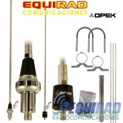 Antena Base Aluminio VHF OPEK 6 Db