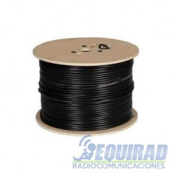 "CA400, Cable Coaxial AIR 802 Negro, 3/8"", 50 ohm."
