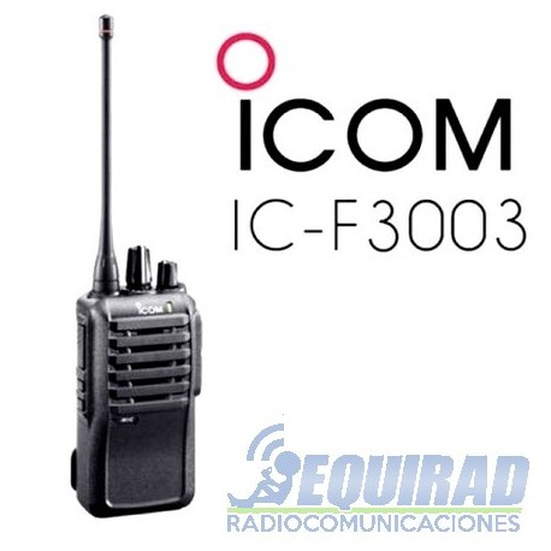 Icom IC F3003, Radio Portátil VHF, 16 Canales