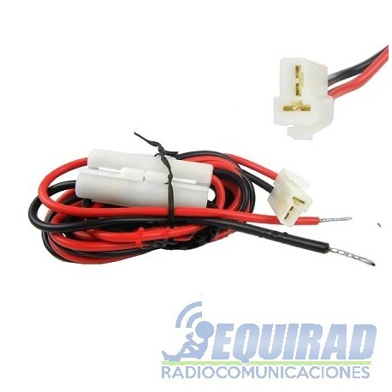 Cable De Alimentación Conector T Con Porta Fusibles
