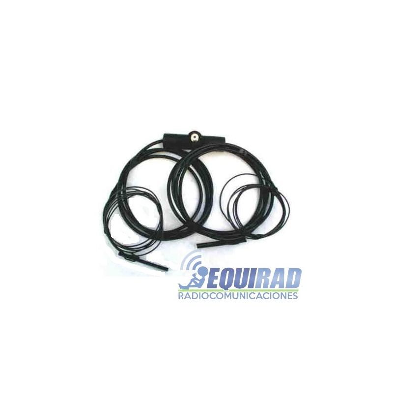 Antena HF Doble Bazooka 40 mts