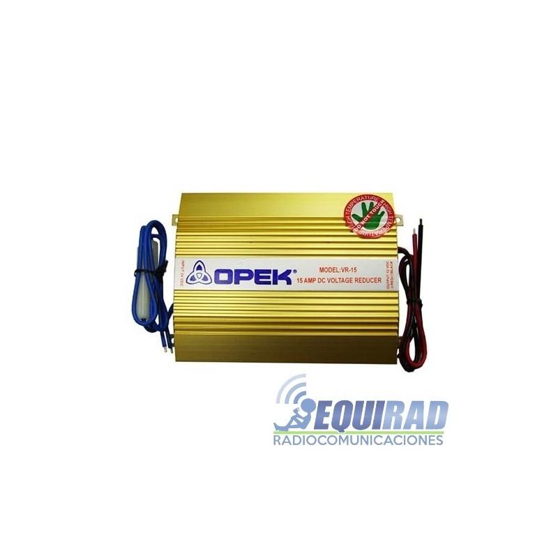 Conversor De Voltaje Opek VR-15, 24 / 12 Vdc, 15 Amp.
