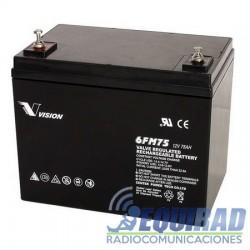 Batería 12 V, AGM Vision, Sellada, 75 AH