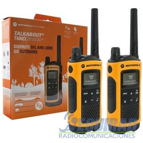 Motorola Talkabout T400CL Hasta 56 Kms. FRS/GMRS