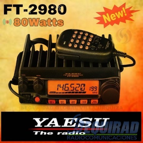 yaesu ft 2980 base m vil vhf alta potencia 80 w. Black Bedroom Furniture Sets. Home Design Ideas