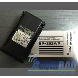 BP-232WP-ICOM - Batería de 2300 mAh, Li-Ion. Sumergible