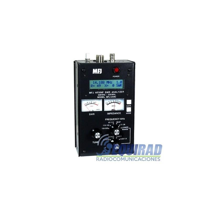 MFJ-259C, Analizador De Antenas 53 - 230 MHz - con pantalla LCD