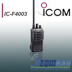 IC F4003 Radio Portátil Icom Profesional UHF