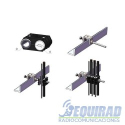 "Clamp Fijación Cable Coaxial 1/4, 3/8, 1/2"""