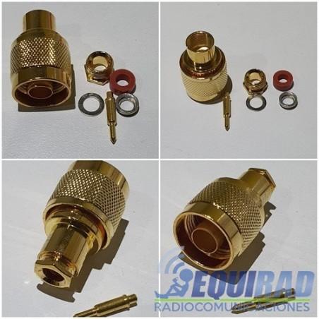 Conector N Macho RG58 Atornillado