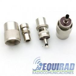 Conector PL Macho Para RG8/ RG58