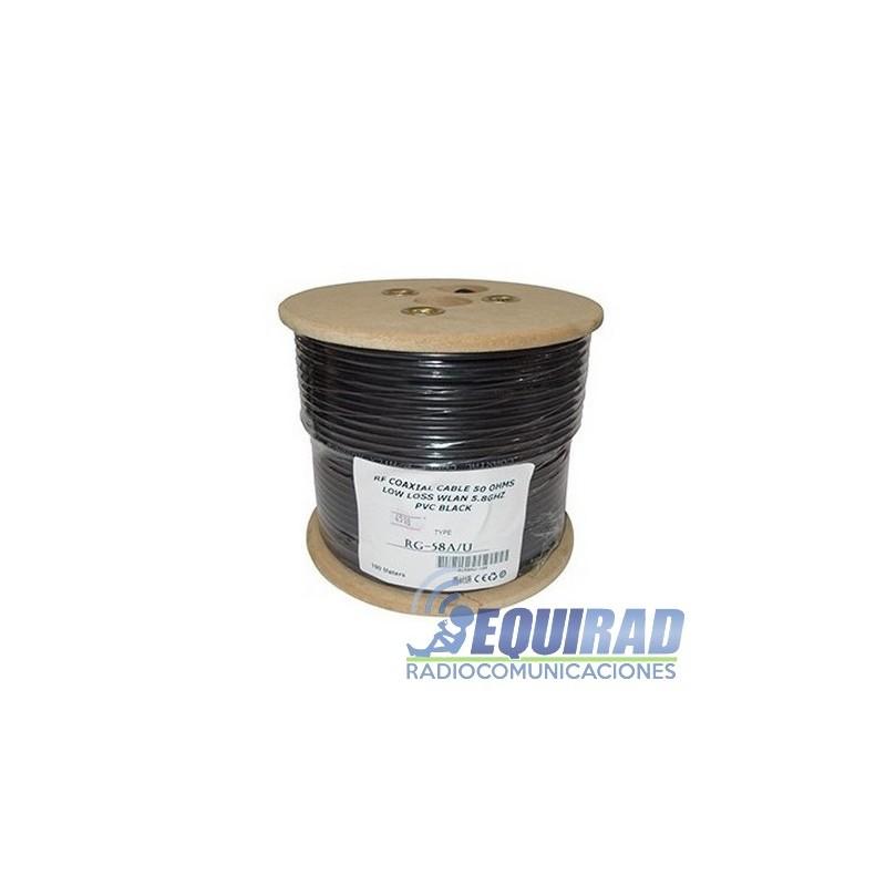RG-58AU Cable Coaxial Cobre Multifilar 50 Ohm