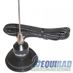 Antena VHF Móvil Con Montaje Magnético y Conector UHF Macho, 148-174 MHz